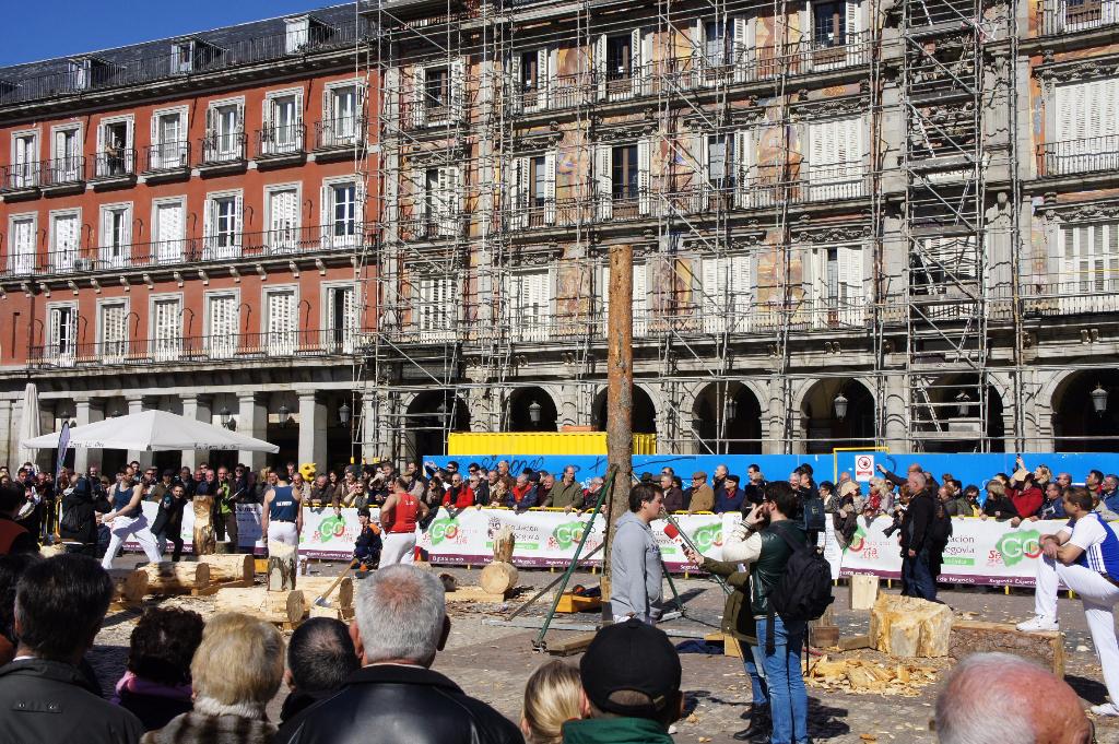 Lumberjack oder ähnliches auf der Plaza Mayor