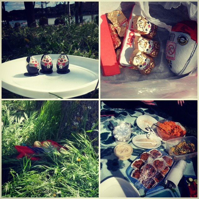 Instagram-Foto: Osterpicknick auf italienisch-deutsch-spanische Art #ostern #pascua #casadecampo #madrid