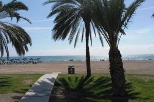 Strand von Málaga